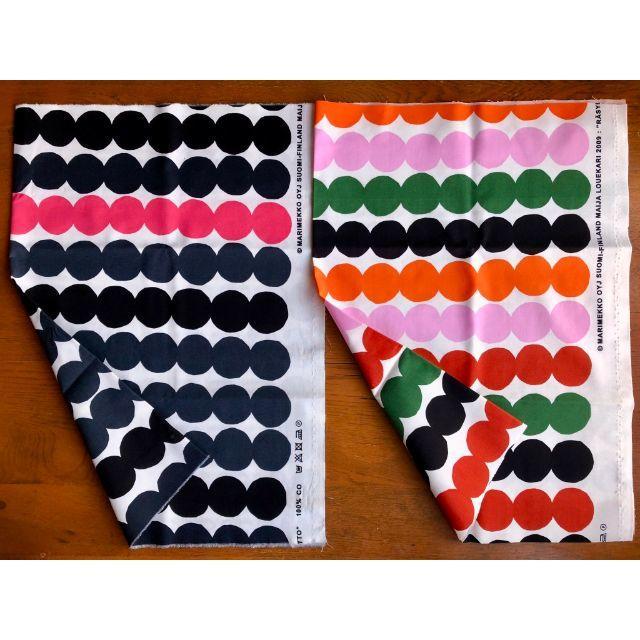 marimekko(マリメッコ)のマリメッコ ハーフカットクロス ラシィマット×6色セット ハンドメイドの素材/材料(生地/糸)の商品写真