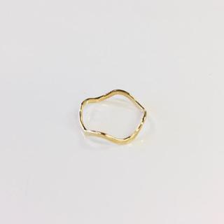 K18 ウェーブリング 0号(リング(指輪))