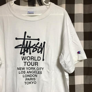 STUSSY - Champion コラボ Tシャツ