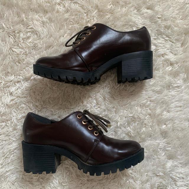 heather(ヘザー)のマニッシュシューズ ヒールマニッシュ ローファー レディースの靴/シューズ(ローファー/革靴)の商品写真