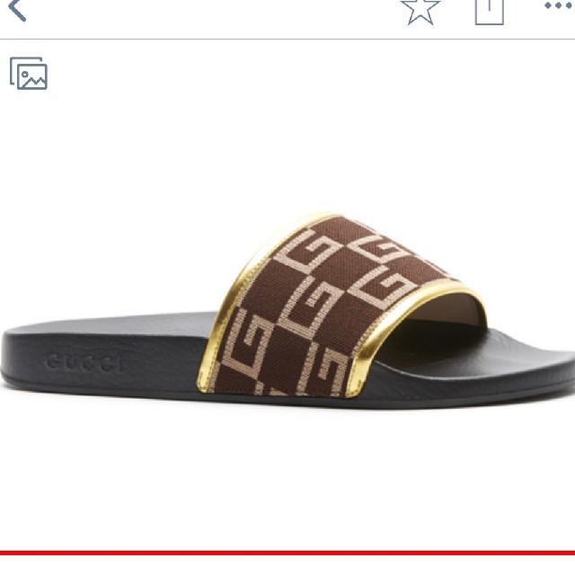 Gucci(グッチ)のGUCCI M PURSUIT SLIDE JERSEY GGEY GG 9 メンズの靴/シューズ(サンダル)の商品写真