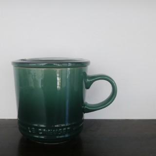 ルクルーゼ(LE CREUSET)のルクルーゼ カクタスグリーン 蓋付きマグ マグカップ 蓋つきマグカップ(食器)