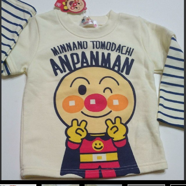 BANDAI(バンダイ)の正規品 アンパンマン トレーナー 95:㎝ キッズ/ベビー/マタニティのキッズ服 男の子用(90cm~)(Tシャツ/カットソー)の商品写真