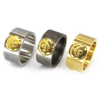 ステンレス素材の平打ちイーグルリング指輪(リング(指輪))