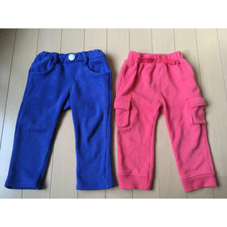 しまむら - 青&ピンクパンツ 2枚セット 80cm