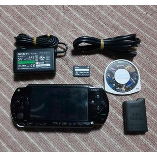 PlayStation Portable - PSP-1000(黒、修理品)すぐ遊べるセット(管01)