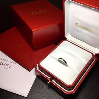 Cartier - カルティエ ダイヤ プラチナリング 指輪 Pt950 確実正規品 ギャランティ②