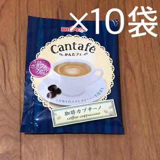 ブルックス(Brooks)のブルックス かんたフェ 珈琲カプチーノ 10袋 & はちさんロンパース(コーヒー)