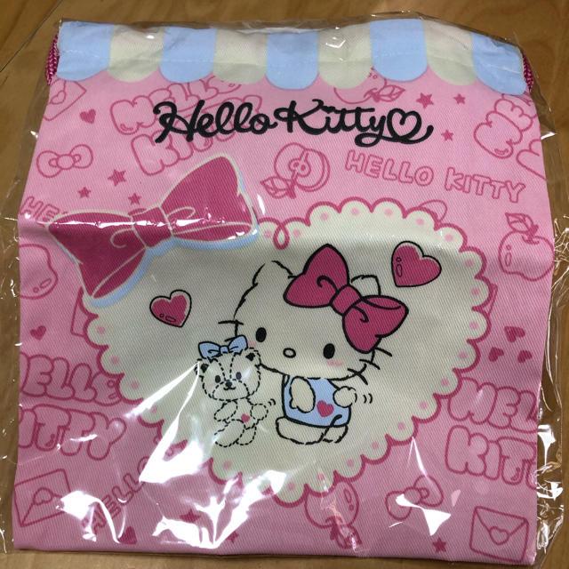 サンリオ(サンリオ)のハローキティ 巾着 コップ袋 エンタメ/ホビーのおもちゃ/ぬいぐるみ(キャラクターグッズ)の商品写真
