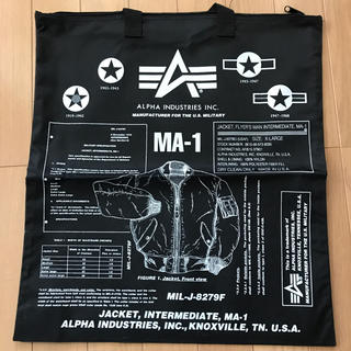 ALPHA INDUSTRIES - ALPHA INDUSTRIES  MA-1 トートバック 黒/白