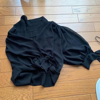 シャツ ブラック(シャツ/ブラウス(長袖/七分))
