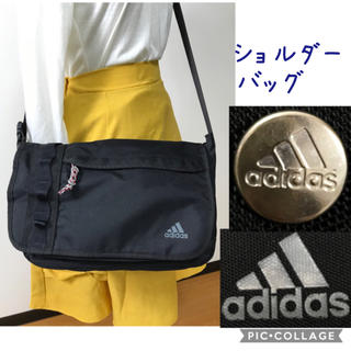 adidas - 《adidas》(ブラック)ショルダーバッグ