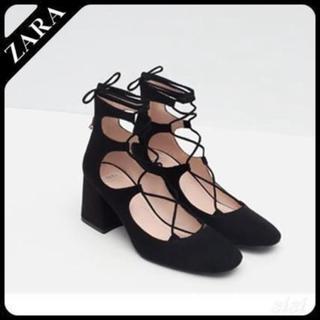 ZARA - zara★レースアップヒール