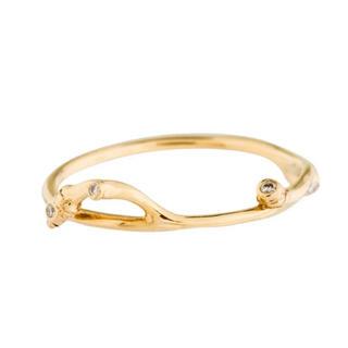 SOPHIE BILLE BRAHE ダイヤモンド リーフ リング 指輪(リング(指輪))