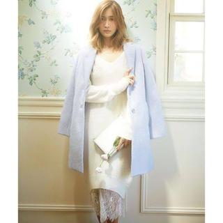 マーキュリーデュオ(MERCURYDUO)のマーキュリーデュオ紗栄子着用シャギーチェスターコート ライトブルー 水色(チェスターコート)