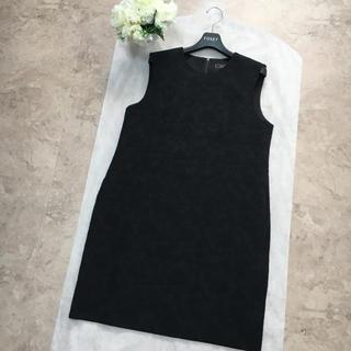 FOXEY - 【美品】FOXEY フォクシー 美しいデザイン ブラック ドレス ワンピース