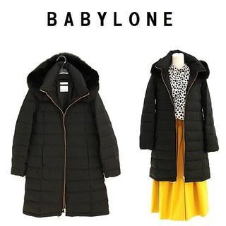 BABYLONE - 今季新品 36/S BABYLONE フードファーロングダウンコート
