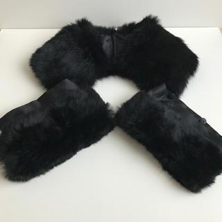 ニジュウサンク(23区)のラビットファー襟・袖(つけ襟)