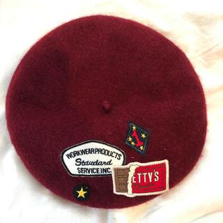 rivet & surge - ワッペン付きベレー帽