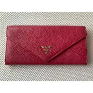 プラダ(PRADA)のプラダ PRADA 長財布 レター型 ピンク(財布)