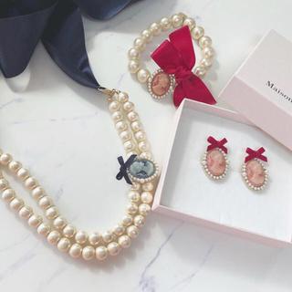 メゾンドフルール(Maison de FLEUR)の【バラ売り可能】カメオパールセット(ネックレス)