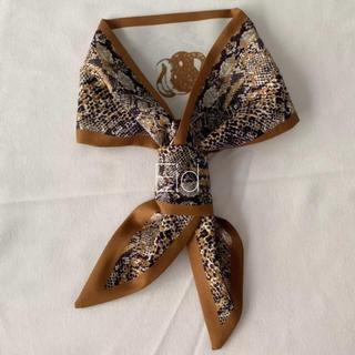 Ameri VINTAGE - Python tie scarf brown No.187