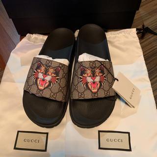 Gucci - GUCCI GG Supreme Angry Cat print sandal