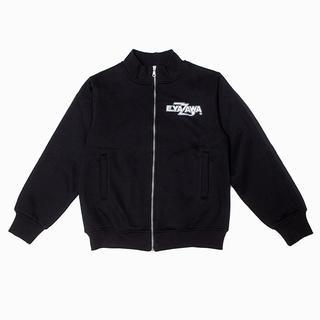 ヤザワコーポレーション(Yazawa)の矢沢永吉 E.YAZAWA トラックジャケット ロゴ シールド ブラック L(ミュージシャン)