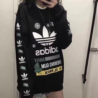 adidas - 人気アディダススウェット 長袖 ブラック