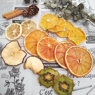 ドライフルーツ木の実シナモンユーカリ花材オレンジみかんレモンキウイアップル(ドライフラワー)
