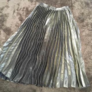 レイビームス(Ray BEAMS)のラメプリーツスカート(ロングスカート)