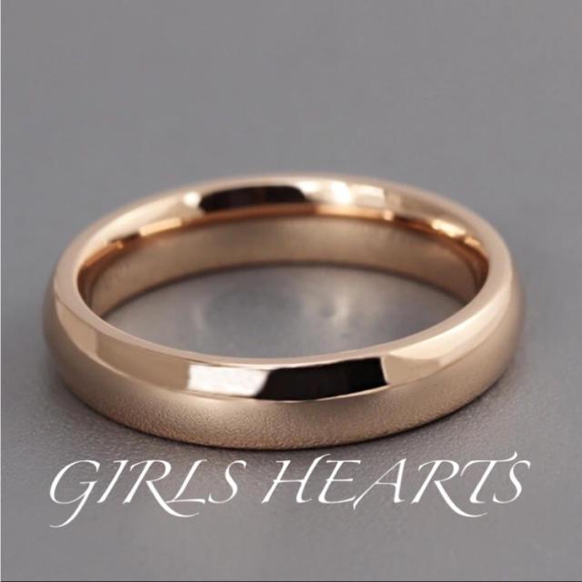 送料無料7号ピンクゴールドサージカルステンレスシンプルリング指輪値下げ残りわずか レディースのアクセサリー(リング(指輪))の商品写真
