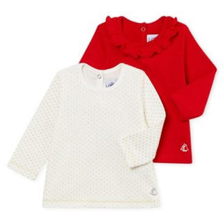 プチバトー(PETIT BATEAU)の*ご専用* 新品未使用  プチバトー  長袖  カットソー  2枚組(Tシャツ/カットソー)