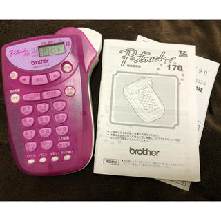 brother - ピータッチ  170 ピンク 本体 美品 説明書付 p-touch  170