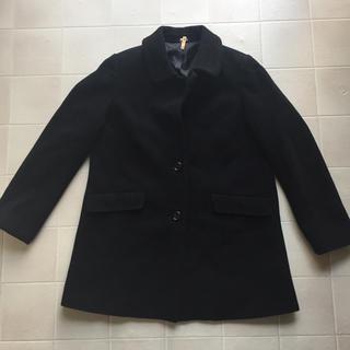 ムジルシリョウヒン(MUJI (無印良品))の無印良品 コート 黒 L(チェスターコート)