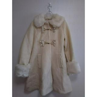 リズリサ(LIZ LISA)のリズリサ★ファー付き白コート(ロングコート)