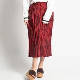 ウィゴー(WEGO)の【新品未使用】ワッシャースカート レッド 赤(ロングスカート)