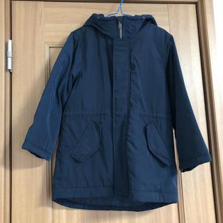 ジーユー(GU)のGU KIDS  NAVYジャケットロング丈コート120(コート)