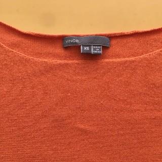 ビンス(Vince)のvince オレンジセーター(ニット/セーター)