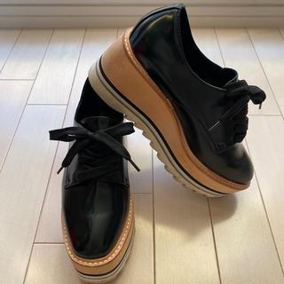 ジェフリーキャンベル(JEFFREY CAMPBELL)のJeffrey Campbell シャークソール厚底レースアップシューズ(ローファー/革靴)