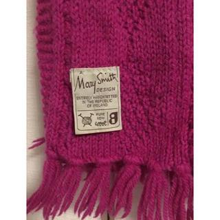 ビームス(BEAMS)の差し色にきれいなピンク/ゲーブル ニット マフラー/ウール素材(マフラー/ショール)