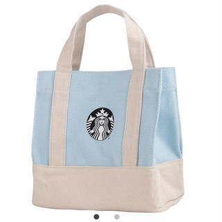スターバックスコーヒー(Starbucks Coffee)のスターバックス:トートバッグ ロゴ 水色 台湾 海外 クリスマス(トートバッグ)