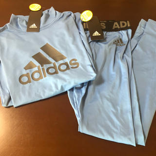 adidas - 《新品》アディダス ハイネックスリーブシャツ タイツ セット 150