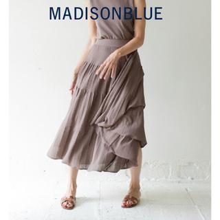 マディソンブルー(MADISONBLUE)の希少【MADISONBLUEマディソンブルー】プリーツタックロングニットスカート(ロングスカート)