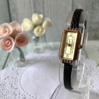 agete - 【電池交換済み】agete アガット 腕時計 0.014ct ゴールド 腕時計