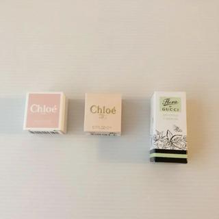 クロエ(Chloe)の3点❣️新品⭐️Chloe クロエ GUCCI グッチ 香水 ミニボトル セット(香水(女性用))