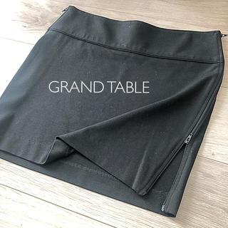スコットクラブ(SCOT CLUB)のGRAND TABLE ミニスカート ストレッチ 黒(ミニスカート)