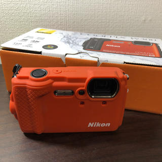 Nikon - 【美品!使用2回】Nikon W300 ORANGE と専用ケースセット