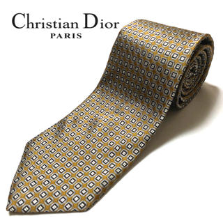 クリスチャンディオール(Christian Dior)の【美品】Christian Dior ネクタイ フランス製 パターン柄(ネクタイ)