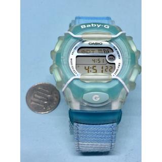 カシオ(CASIO)のK13R)可愛くて美品!カシオ・ベビーGスカイブルー電池交換済み送料無料(腕時計)